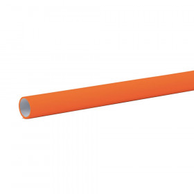 "Bulletin Board Art Paper, Orange, 48"" x 12', 4 Rolls"