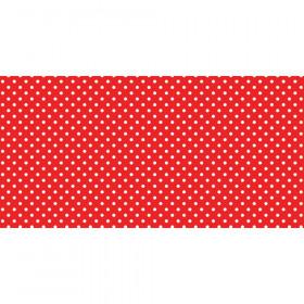 """Bulletin Board Art Paper, Classic Dots-Red, 48"""" x 50', 1 Roll"""