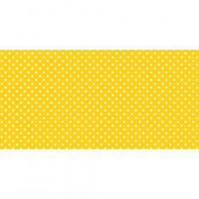 """Bulletin Board Art Paper, Classic Dots-Yellow, 48"""" x 50', 1 Roll"""