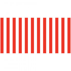 "Bulletin Board Art Paper, Classic Stripes - Red & White, 48"" x 50', 1 Roll"
