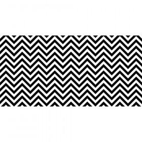 "Bulletin Board Art Paper, Chic Chevron-Black & White, 48"" x 50', 1 Roll"