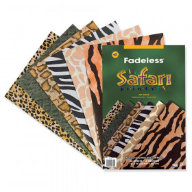 Fadeless Embossed Safari 24 Sht 12 X 18 Assorted Prints