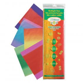 "Deluxe Bleeding Art Tissue, 5 Color Blends Madras Pattern Assortment, 12"" x 18"", 50 Sheets"