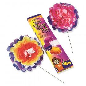 "Tissue Flower Kit, 7 Assorted Colors, 10"", 7 Flowers"