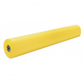 "Colored Kraft Duo-Finish Paper, Canary, 36"" x 1000', 1 Roll"
