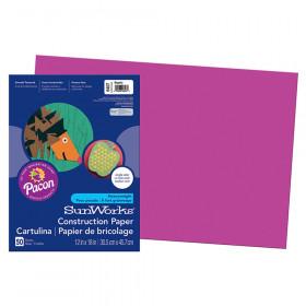 "Construction Paper, Magenta, 12"" x 18"", 50 Sheets"