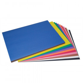 "Construction Paper, 10 Assorted Colors, 18"" x 24"", 100 Sheets"