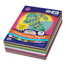 "Construction Paper, 11 Assorted Colors, 9"" x 12"", 300 Sheets"