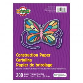 "Construction Paper, Assorted Colors, 9"" x 12"", 200 Sheets"