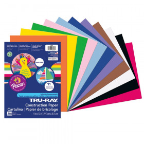 "Construction Paper Smart-Stack, 11 Assorted Colors, 9"" x 12"", 240 Sheets"