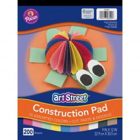 Rainbow Super Value Construction Paper 9 X 12 Pad 200 Sheets