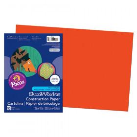 """Construction Paper, Orange, 12"""" x 18"""", 50 Sheets"""