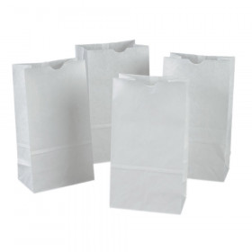 "Kraft Bag, White, 6"" x 3-5/8"" x 11"", 50 Bags"