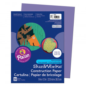 """Construction Paper, Violet, 9"""" x 12"""", 50 Sheets"""
