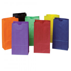 "Mini Kraft Bag, Assorted Bright Colors, 4.125"" x 2.625"" x 8"", 28 Bags"