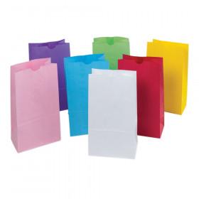 "Kraft Bag, Assorted Pastel Colors, 6"" x 3.625"" x 11"", 28 Bags"