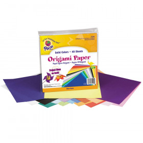 "Origami Paper, Assorted Colors, 9"" x 9"", 40 Sheets"
