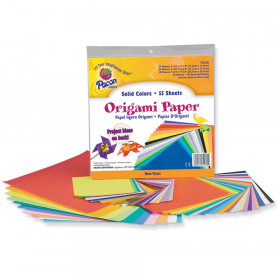 "Origami Paper, Assorted Colors, up to 9-3/4"" x 9-3/4"", 55 Sheets"