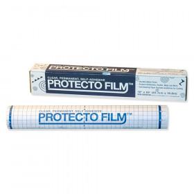 """Protecto Film, Clear, Non-Glare Plastic, Dispenser Box Included, 18"""" x 65', 1 Roll"""