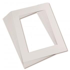 "Pre-Cut Mat Frames, 11.5"" x 16.75"" Frame, 8"" x 10.75"" Window, White, Pack of 12"