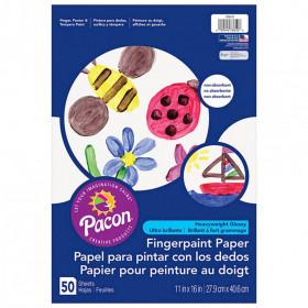 """Fingerpaint Paper, White, 11"""" x 16"""", 50 Sheets"""
