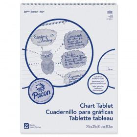 "Chart Tablet, Cursive Cover, 1"" Ruled, 24"" x 32"", 25 Sheets"
