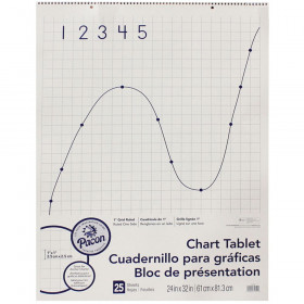 """Grid Ruled Chart Tablet, Spiral Bound, 1"""" Grid, 24"""" x 32"""", 25 Sheets"""