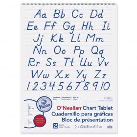 "Chart Tablet, Manuscript Cover, 2"" Ruled 24"" x 32"", 25 Sheets"