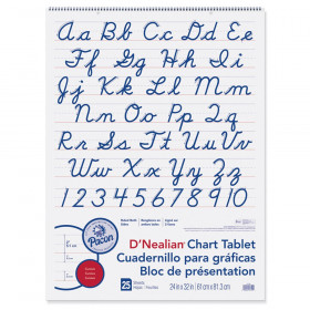 "Chart Tablet, Cursive Cover, 2"" Ruled, 24"" x 32"", 25 Sheets"