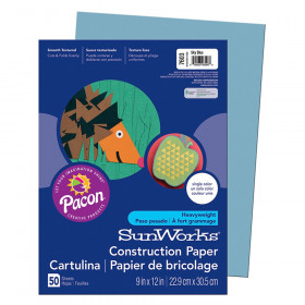 "Construction Paper, Sky Blue, 9"" x 12"", 50 Sheets"