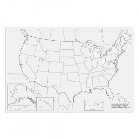 "Learning Walls, United States Map, 48"" x 72"", 1 Piece"