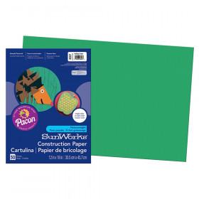 "Construction Paper, Holiday Green, 12"" x 18"", 50 Sheets"
