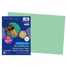 "Construction Paper, Light Green, 12"" x 18"", 50 Sheets"