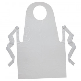 "Youth Disposable Aprons, White, 24"" x 35"", 100 Count"
