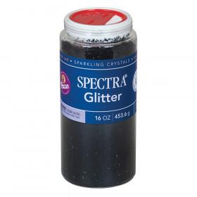 Glitter, Black, 1 lb., 1 Jar