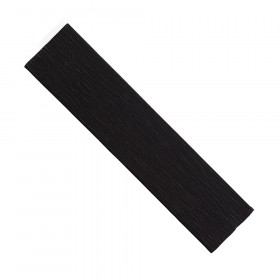 "Crepe Paper, Black, 20"" x 7-1/2', 1 Sheet"