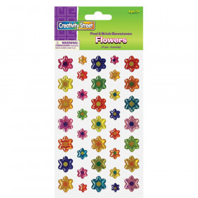 Peel & Stick Gemstone Stickers, Flowers, Assorted Sizes, 37 Pieces