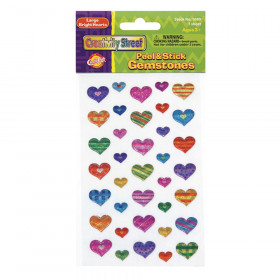 Peel & Stick Gemstone Stickers, Large Hearts, Assorted Sizes, 37 Pieces