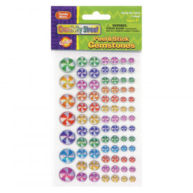 Peel & Stick Gemstone Stickers, Candy Mints, Assorted Sizes, 81 Pieces