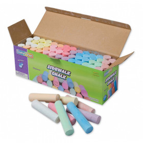 "Sidewalk Chalk, Assorted Colors, 4"", 52 Pieces"
