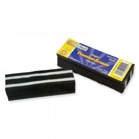 "Chalk & Whiteboard Eraser, Premium, 6 Black & White Felt Strips, Double-Stitched, Reinforced Backing, 6"", 1 Eraser"