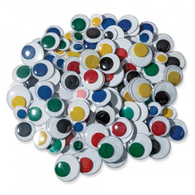 Jumbo Wiggle Eyes, Multi-Color, Assorted Sizes, 100 Pieces