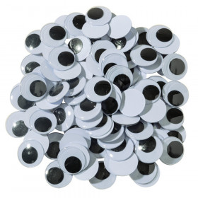 Wiggle Eyes, Black, 20 mm, 100 Pieces