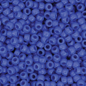 Pony Beads, Blue, 6 mm x 9 mm, 1000 Pieces