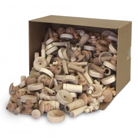 Natural Wood Turnings, Assorted Shapes & Sizes, 18 lb.