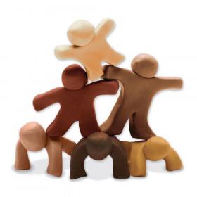 Modeling Dough, 6 Multi-Cultural Assortment, 1 lb. ea. Color, 6 Pieces