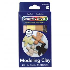 Modeling Clay, 4 Multi-Cultural Assortment, 1 lb/4 Sticks