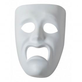 """Plastic Mask, Sad, 7-3/4"""" x 5-3/4"""", 1 Piece"""