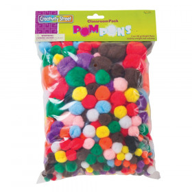 Pom Pons Classroom Pack, Assorted Colors & Sizes, 5 oz.