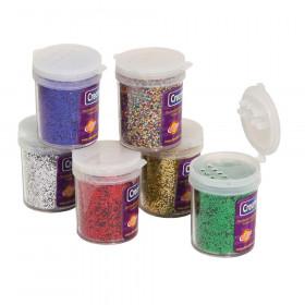 Glitter Assortments, 6 Assorted Colors, 0.75 oz., 6 Jars
